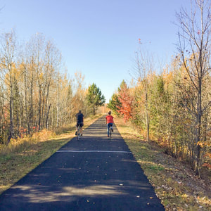 Biking near Lake Vermilion